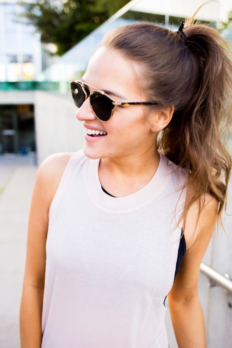 A LO PROFILE- Go To Ab workout + activewear look