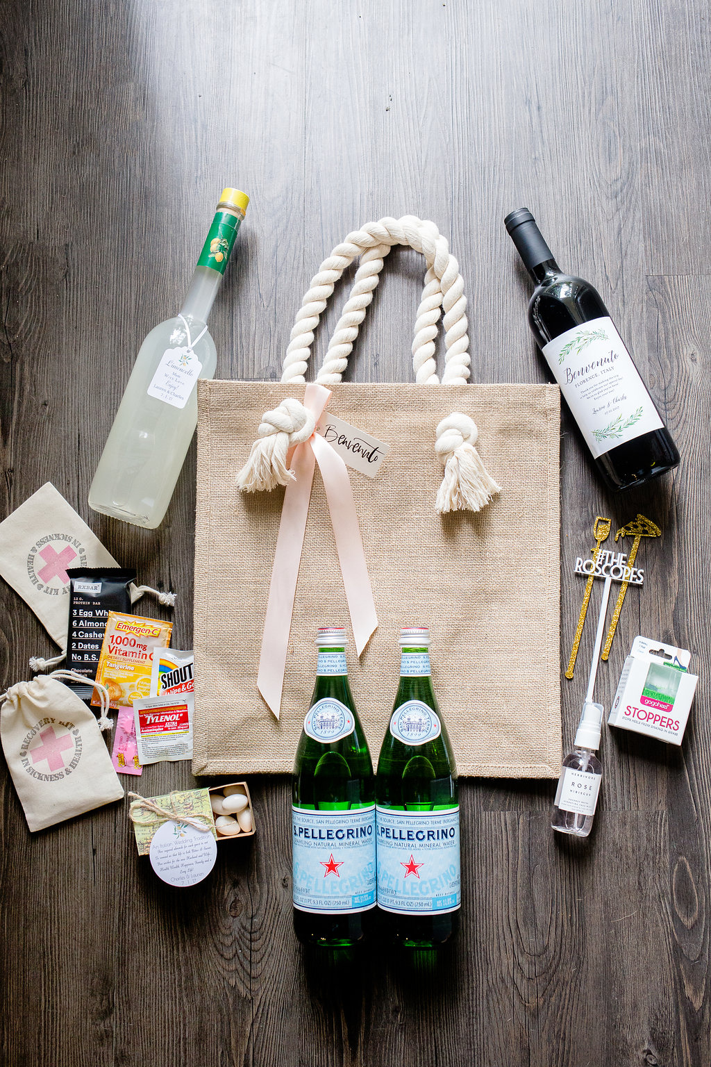 Wedding welcome bags a lo profile wedding welcome bags sharing ours for our italy destination wedding tips on what to junglespirit Image collections