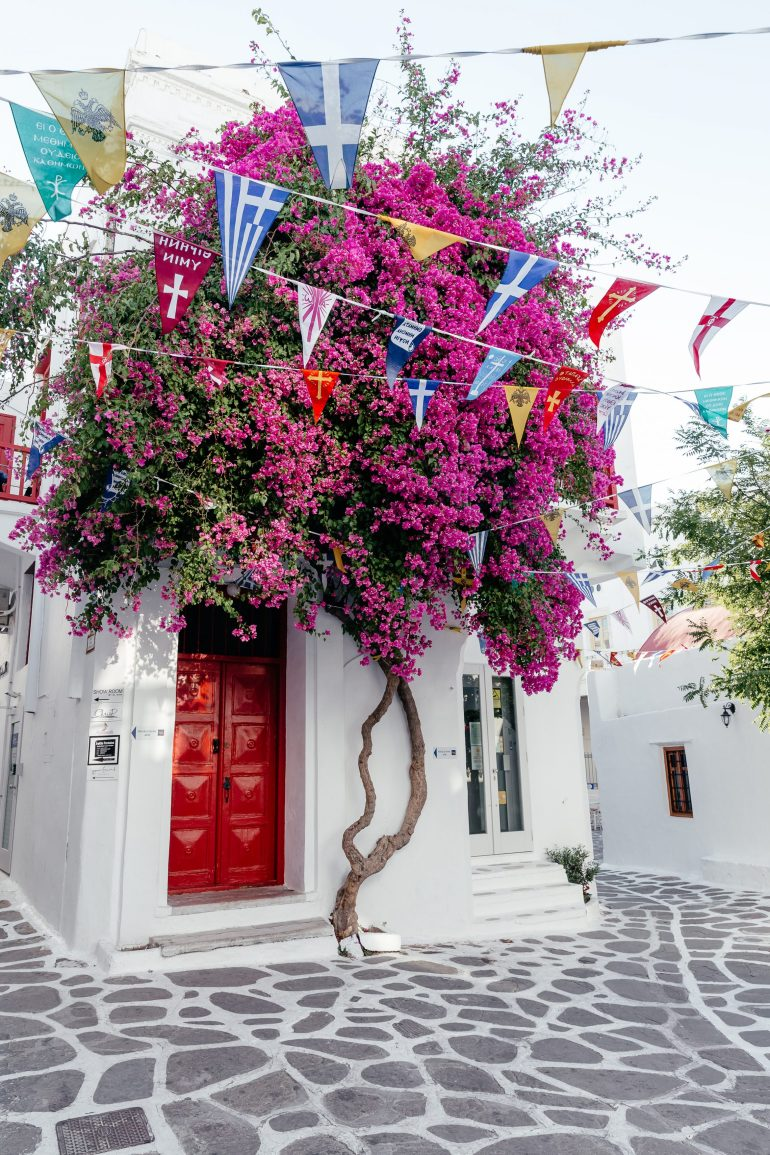 Mykonos Travel Guide featuring where to stay, where to eat, what to do, and travel tips via A Lo Profile
