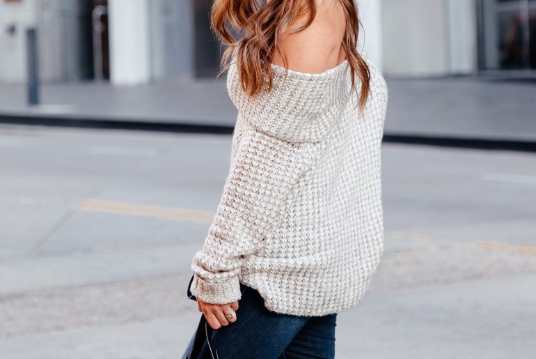 Friday Favorites: OTS Sweaters. Click through to shop tons of cute options under $100 via A Lo Profile.