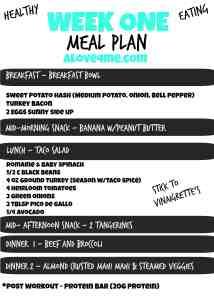meal plan healthy eating food