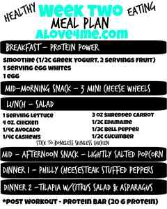 meal plan two healthy eating