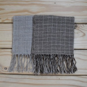 Alpaca Scarf in Block Weave