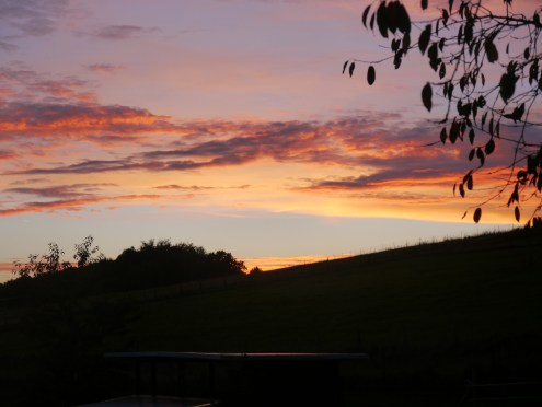 Abendhimmel über Kohlberg