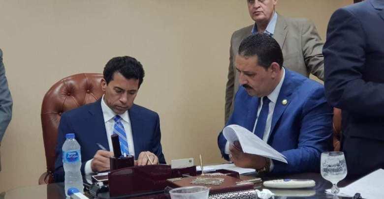 حامد جلال جهجه ووزير الشباب