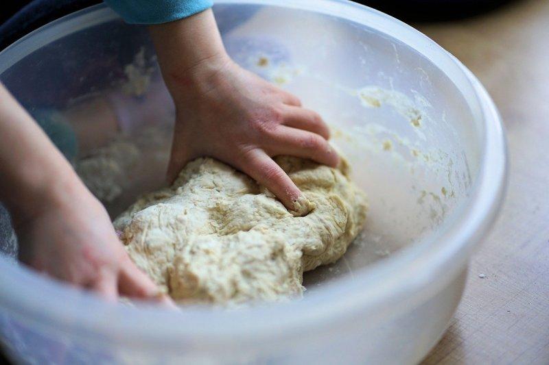 dough, knead, bake