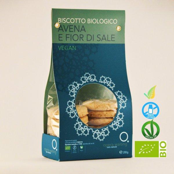 Biscotto Avena e Fior di Sale Vegan Biologico