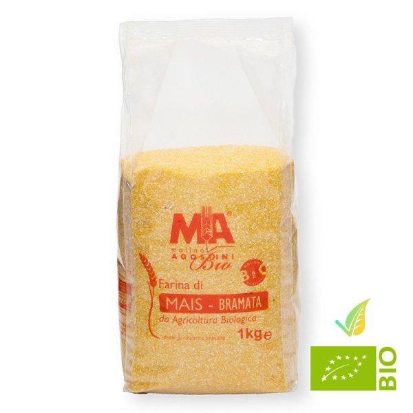 Farina di Mais Bramata per Polenta Bio