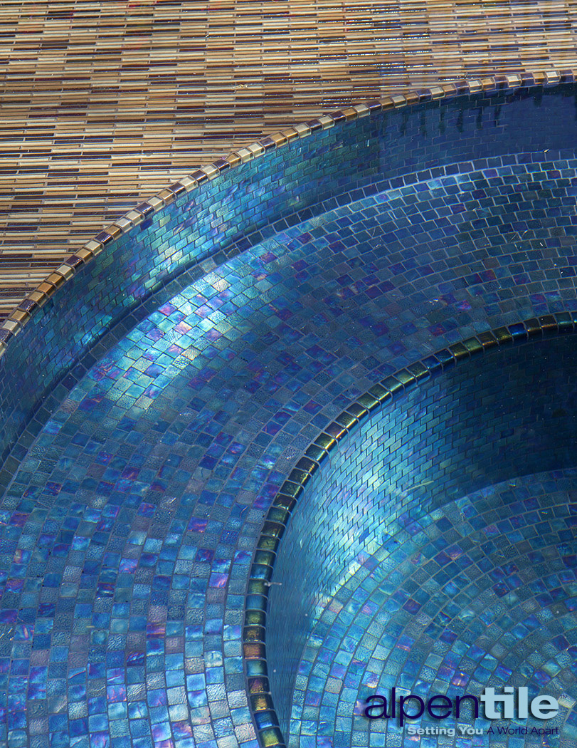 Portfolio alpentile glass tile pools and spas for Pool design mosaic tiles
