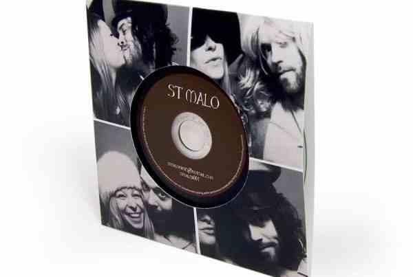 CD wallet - vinyl style with thumbcut