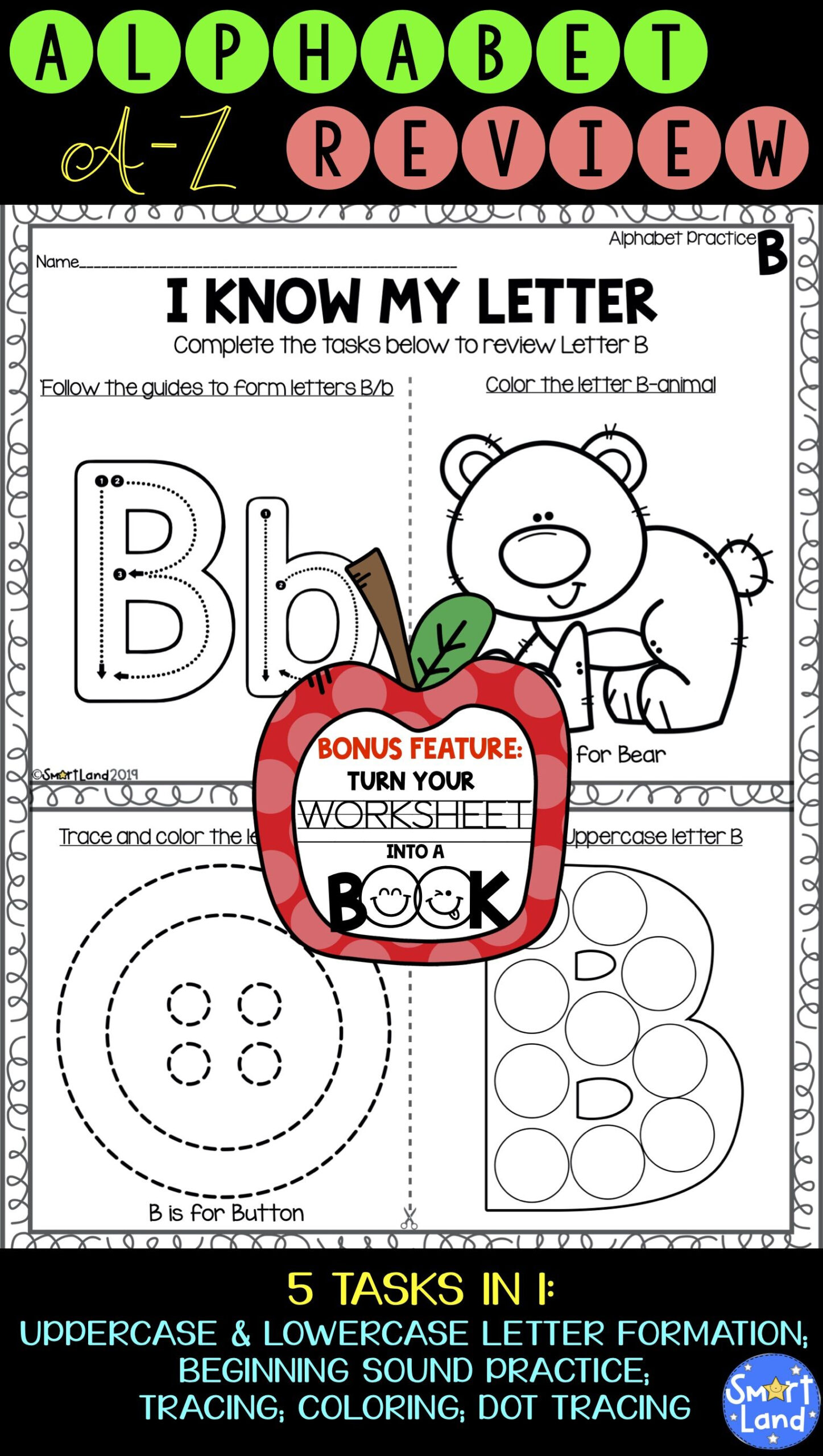 Alphabet Review Worksheets For Pre K