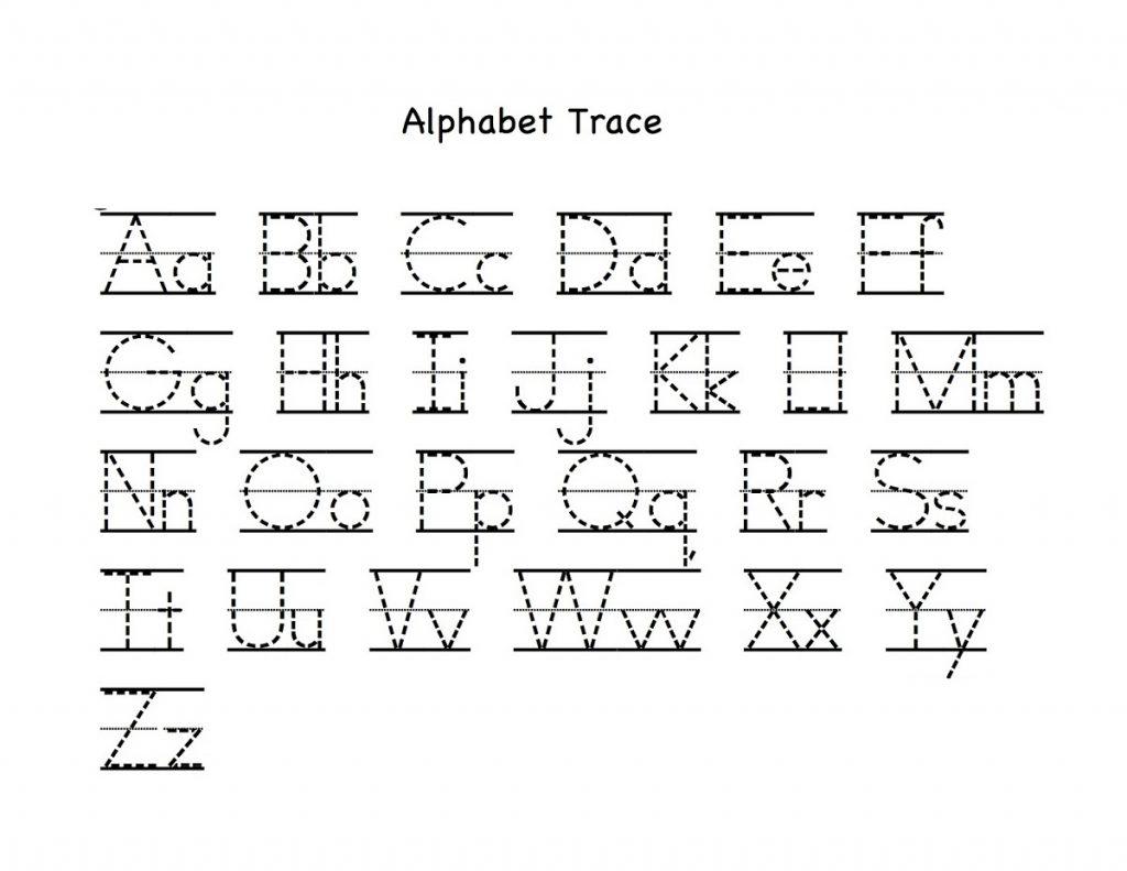 Alphabet Worksheets Traceable