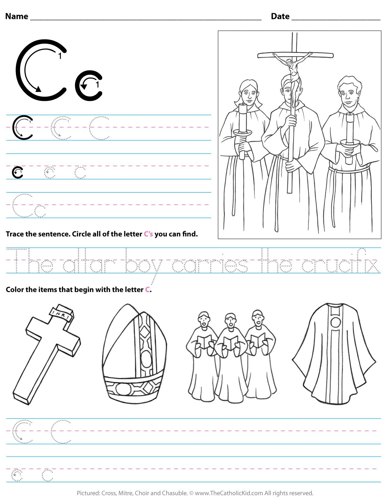A Letter Worksheets Kindergarten