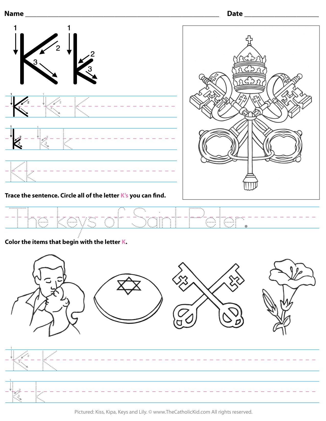 Letter K Worksheets For Kinder