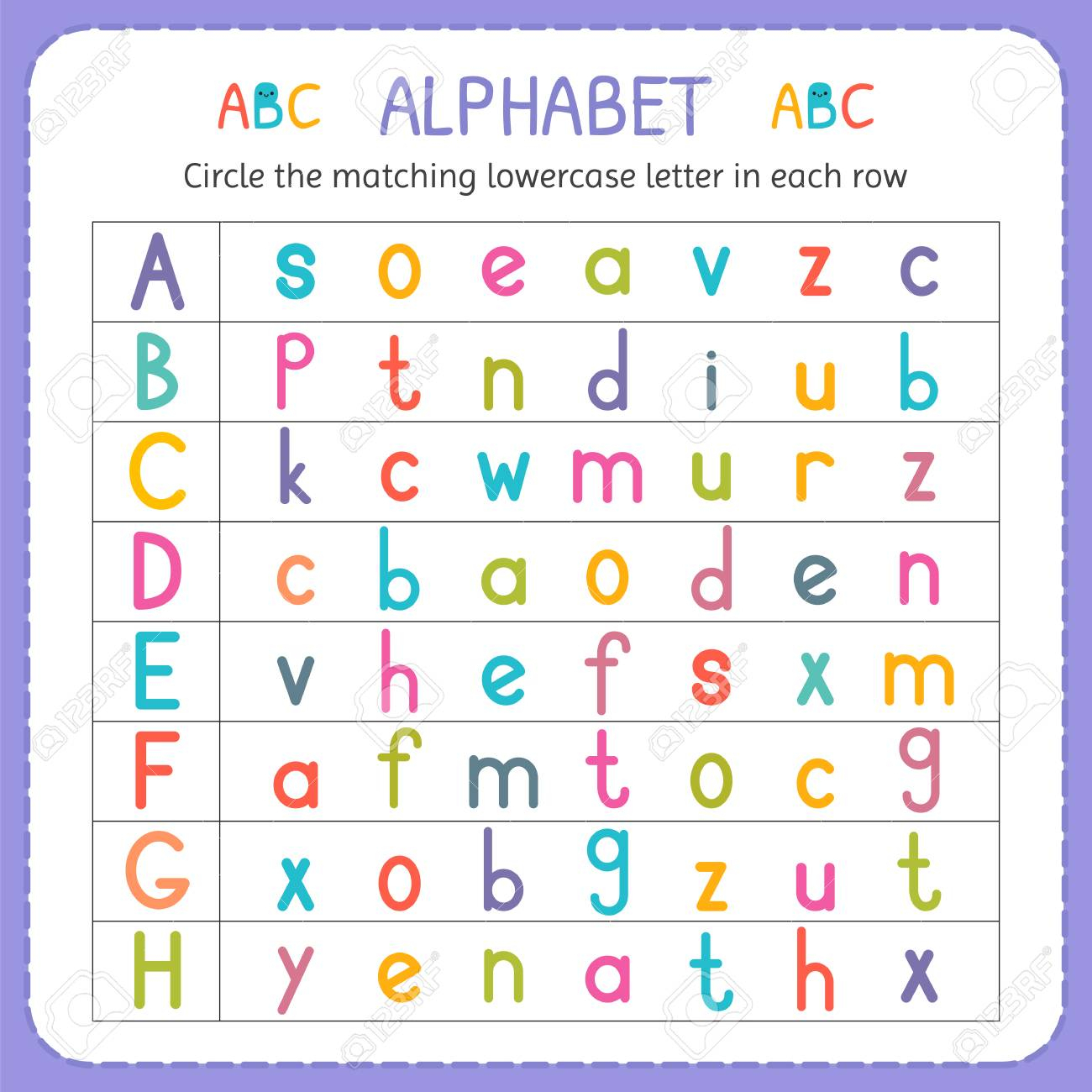 Lowercase Alphabet Worksheets