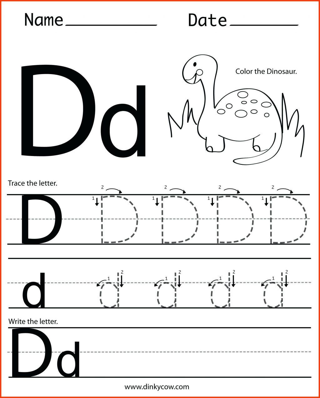 Letter Dd Worksheets