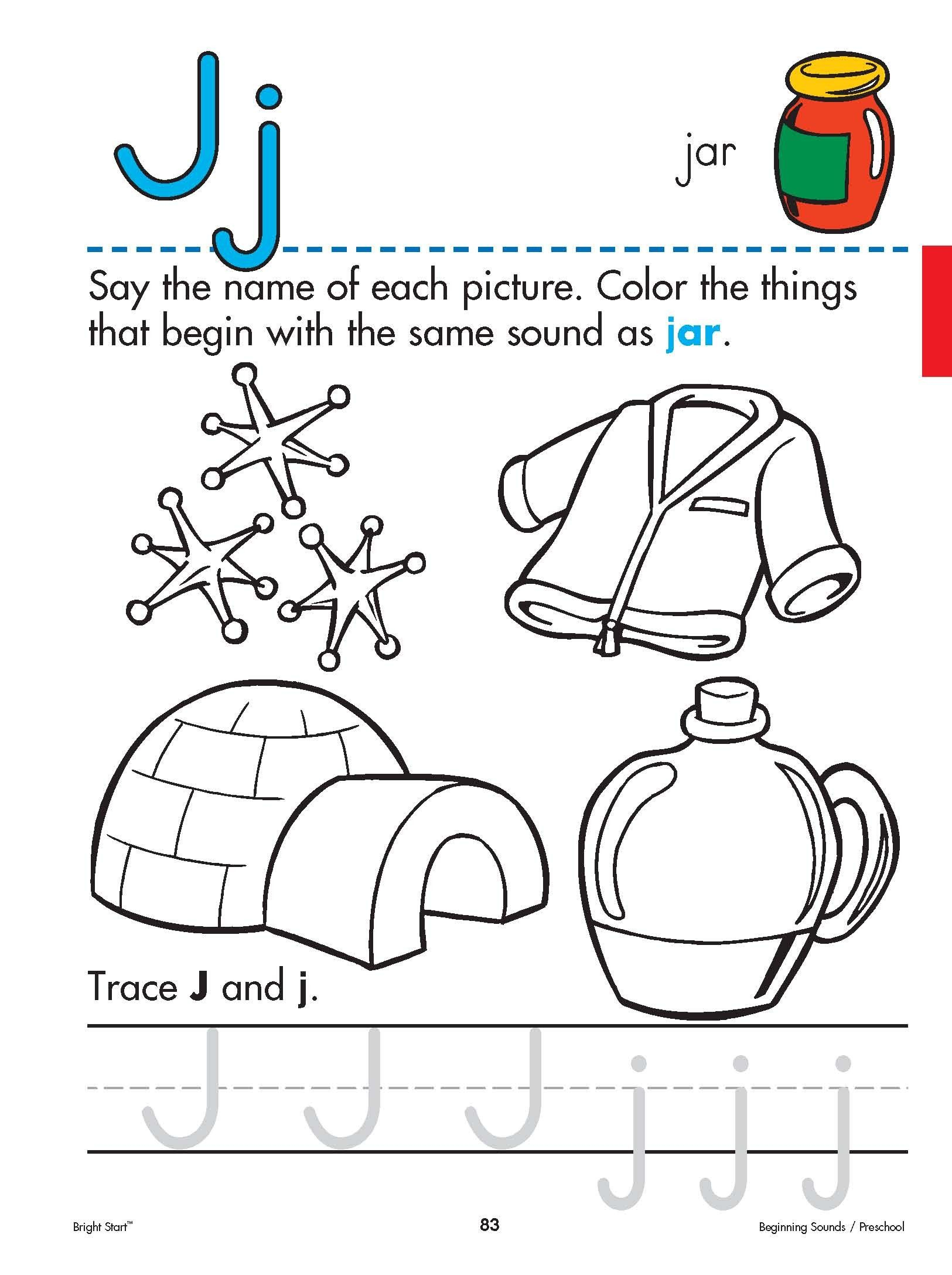 Letter J Worksheets Easy