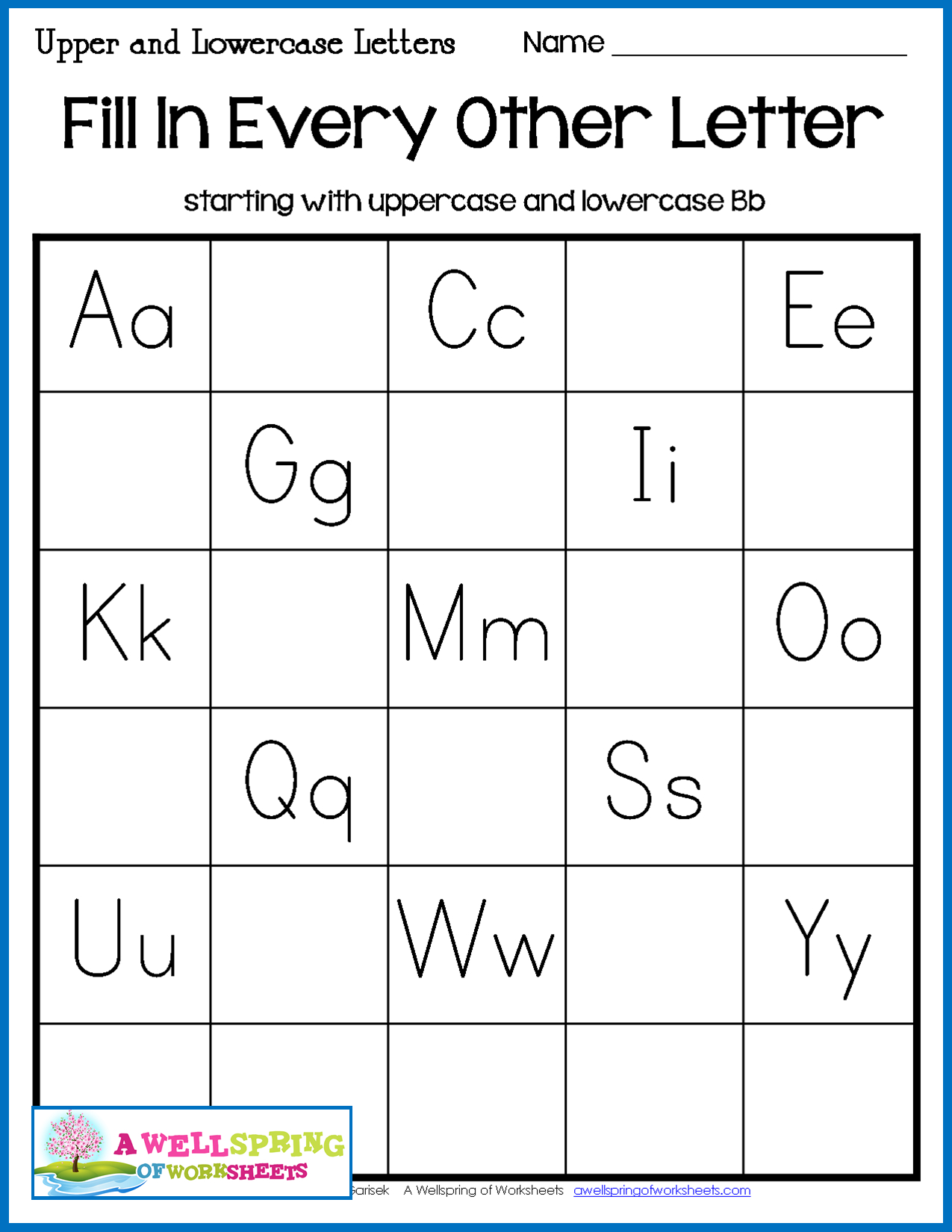 Alphabet Worksheets Fill In The Missing Letter
