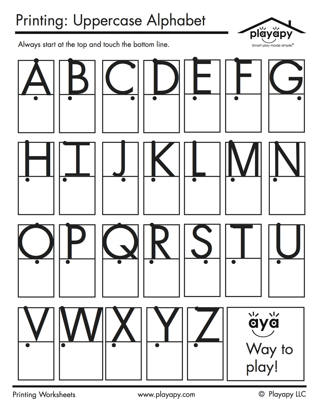 Alphabet Copy Worksheets