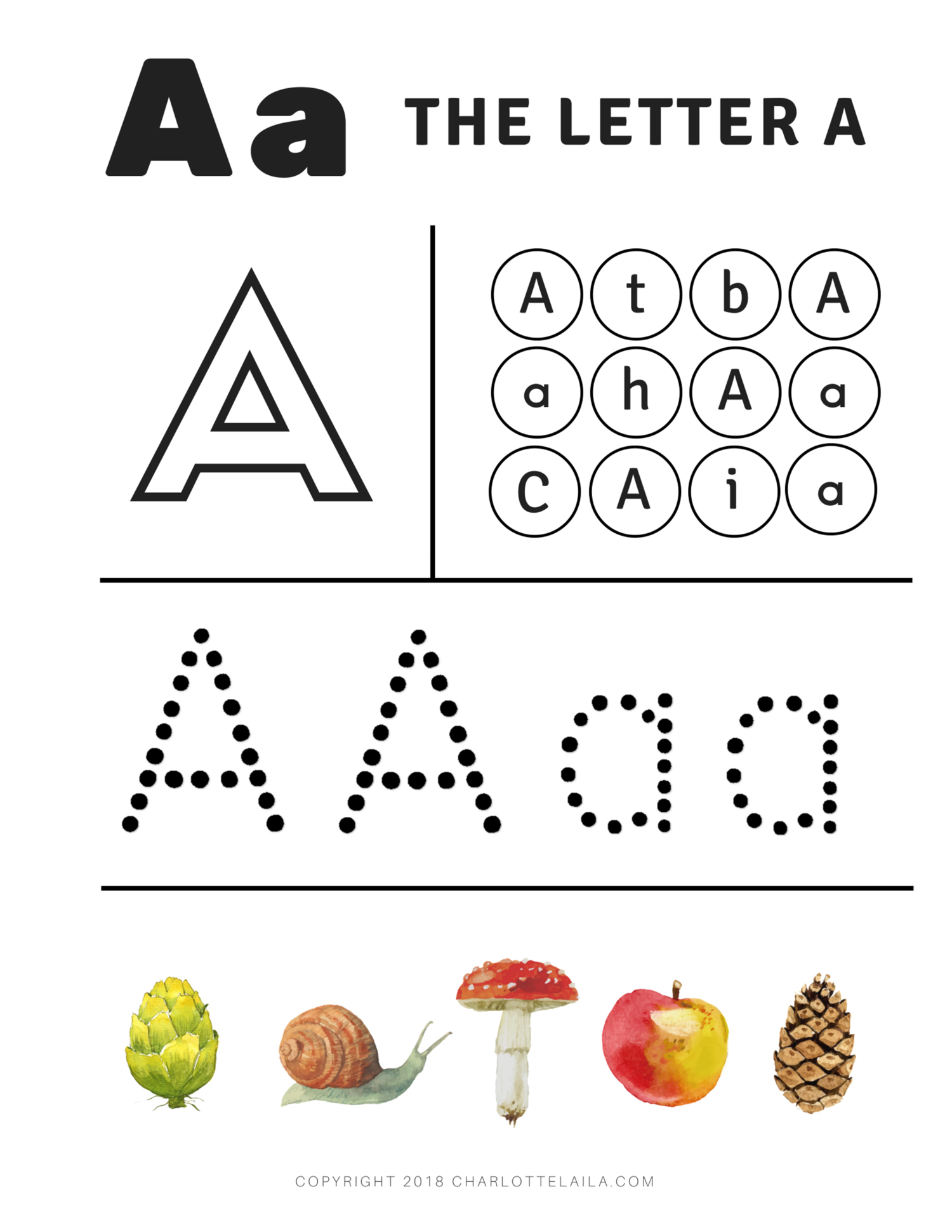 Preschool Alphabet I Worksheets