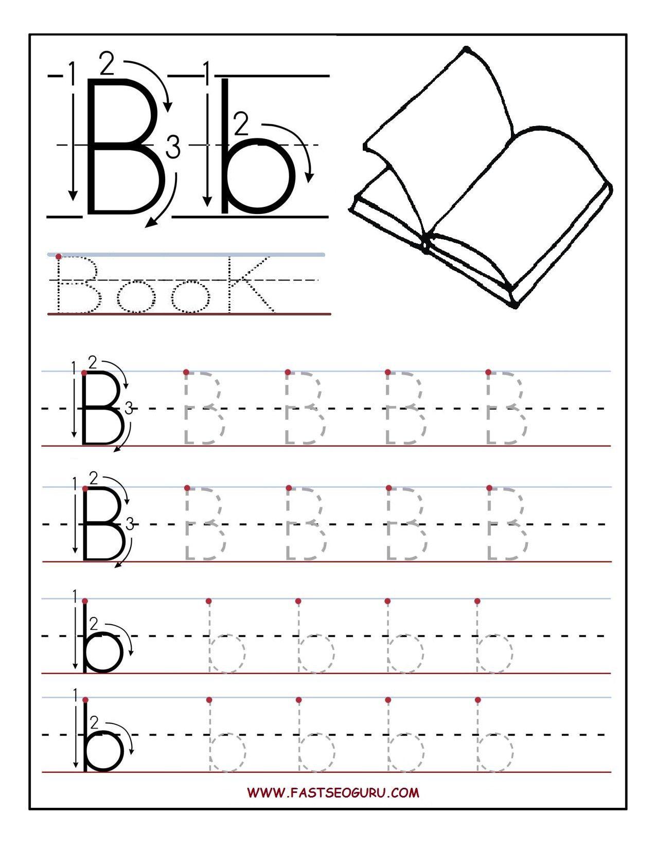 Letter B Worksheets For First Grade