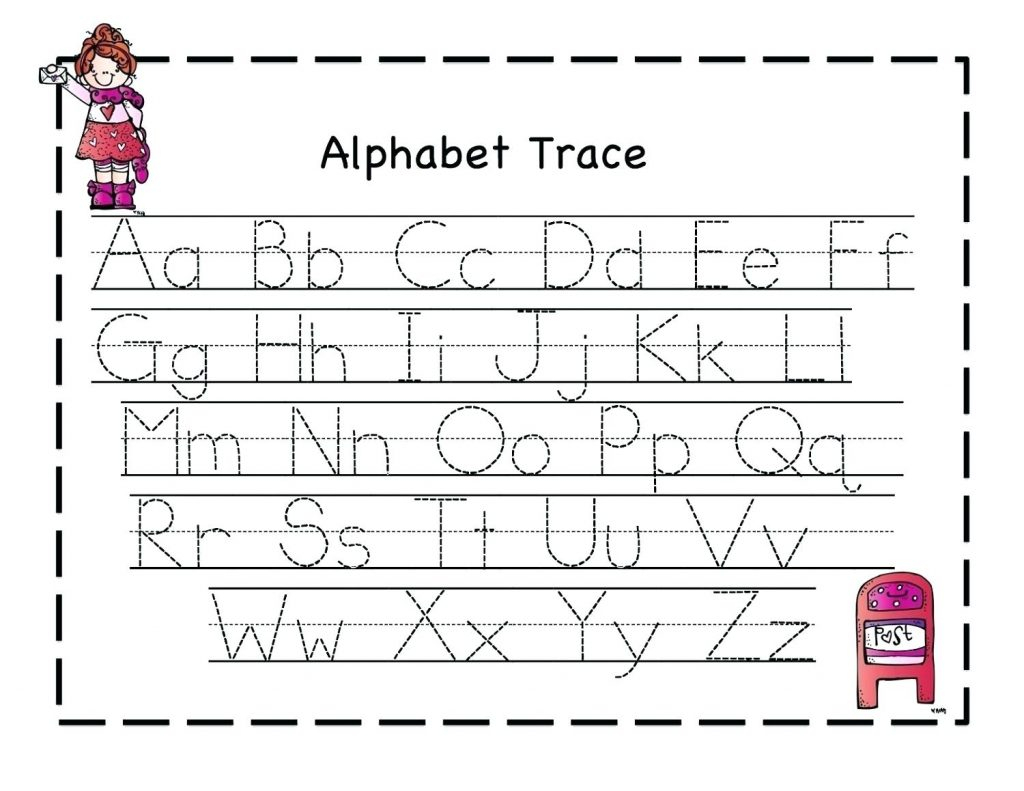 Alphabet Tracing Worksheets For 4 Year Olds