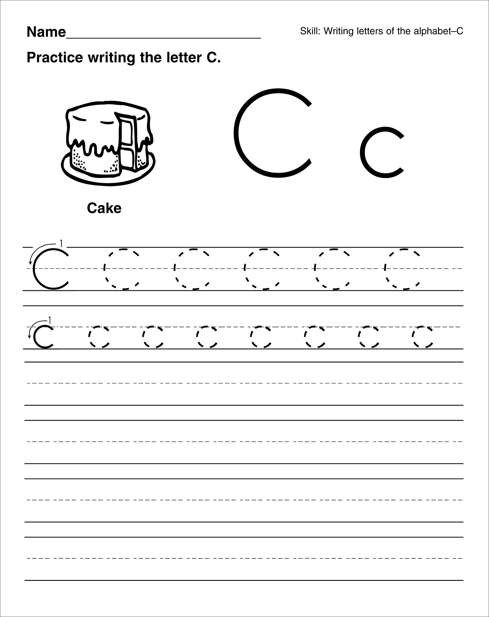 Letter C Worksheets For 2 Year Olds