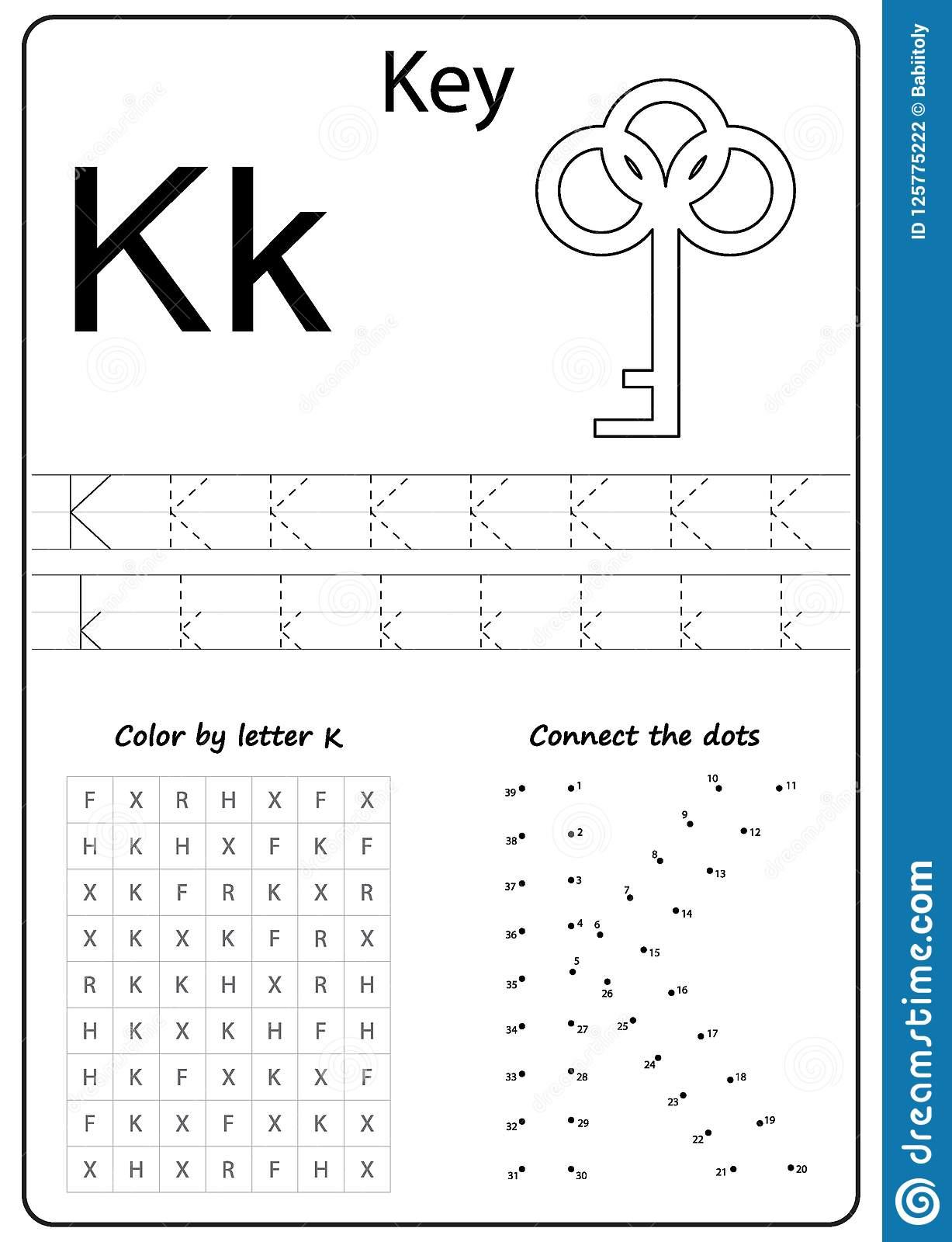 Letter K Worksheets For Preschool