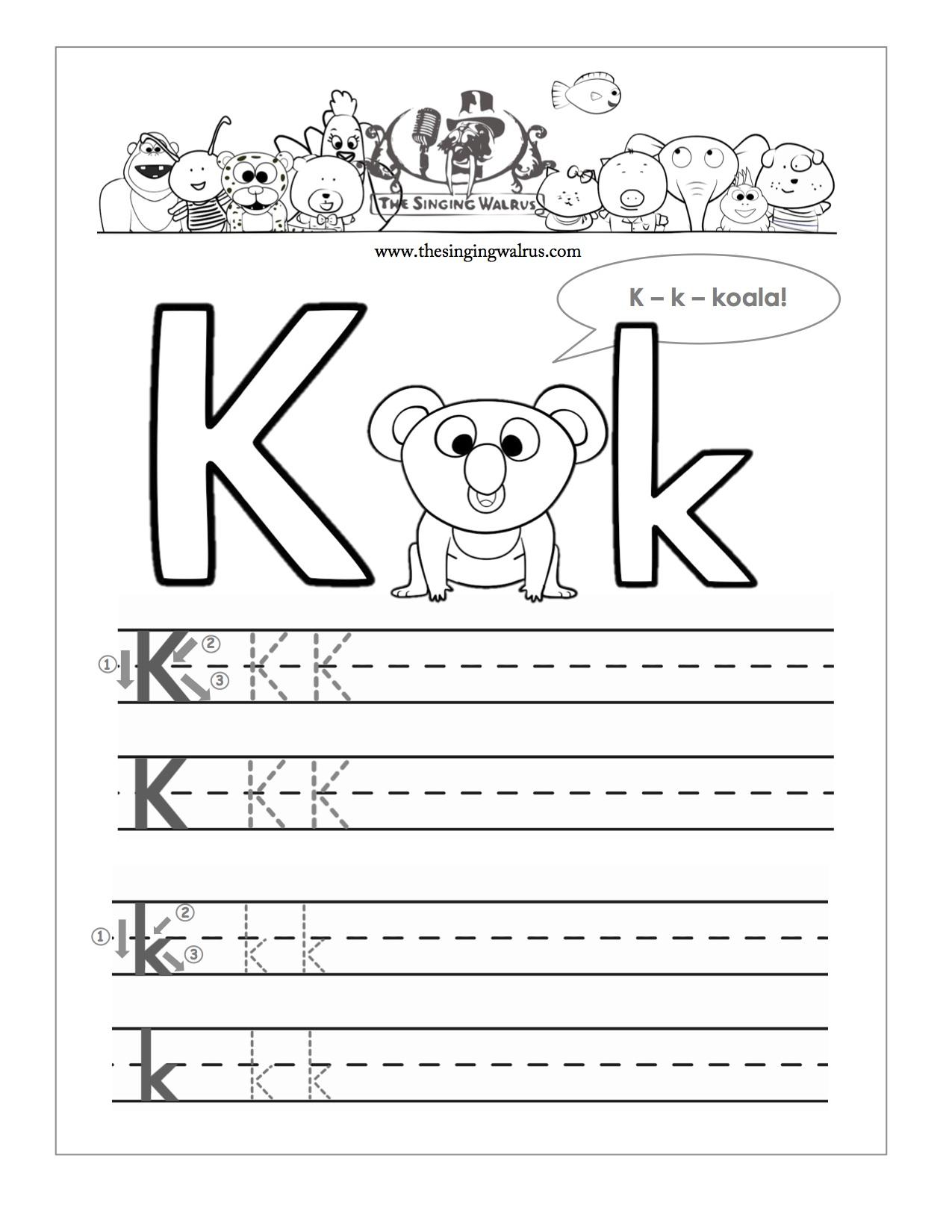 Letter K Worksheets Free