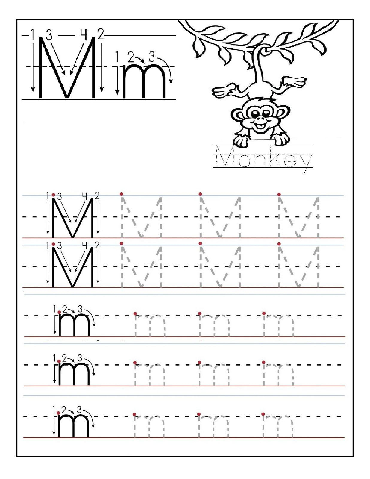 Letter N Tracing Worksheets Preschool