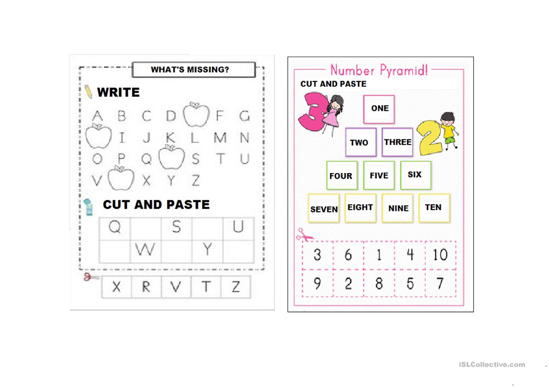 Alphabet Numbers Worksheets