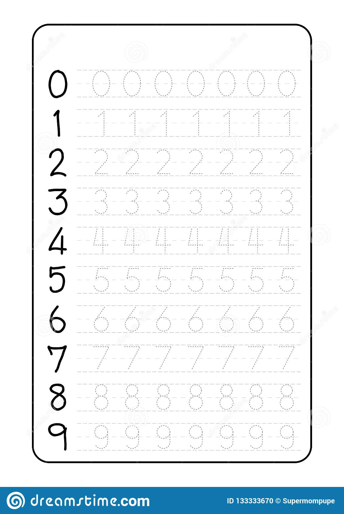 Alphabet Number Tracing