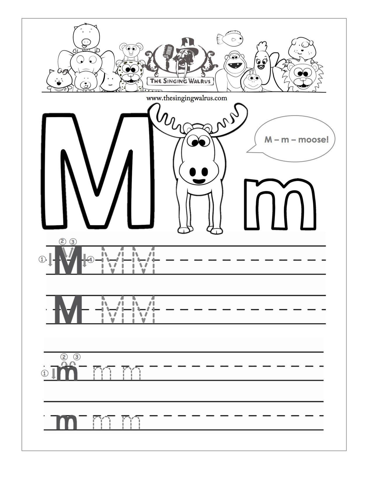 Letter M Worksheets For Kindergarten