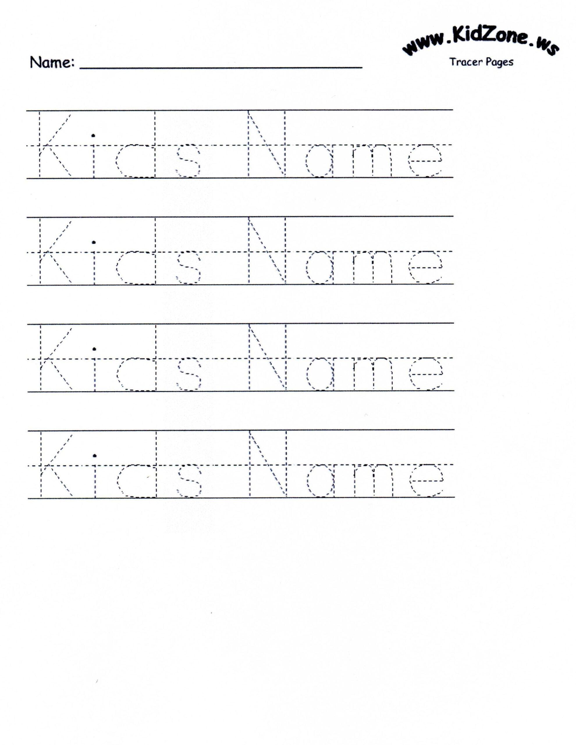 Name Tracing Kidzone