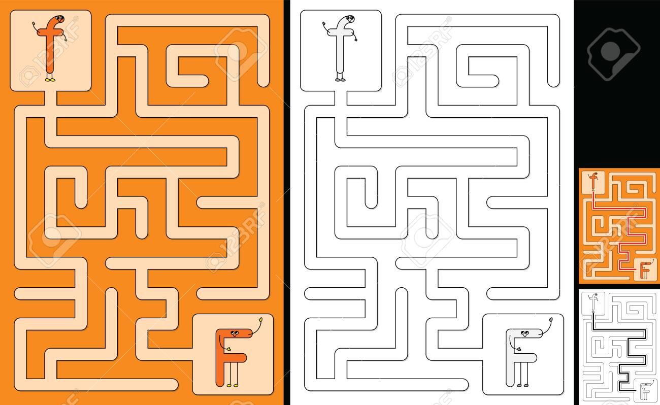Alphabet Worksheets Maze