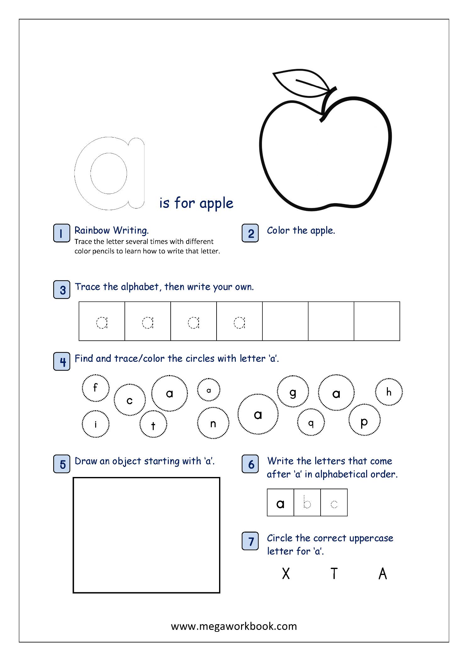 Alphabet Recognition Worksheets