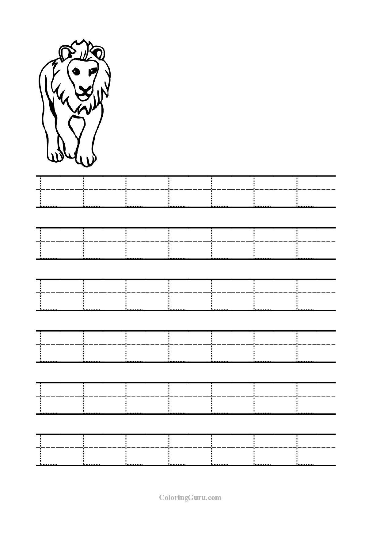 Letter L Worksheets Tracing