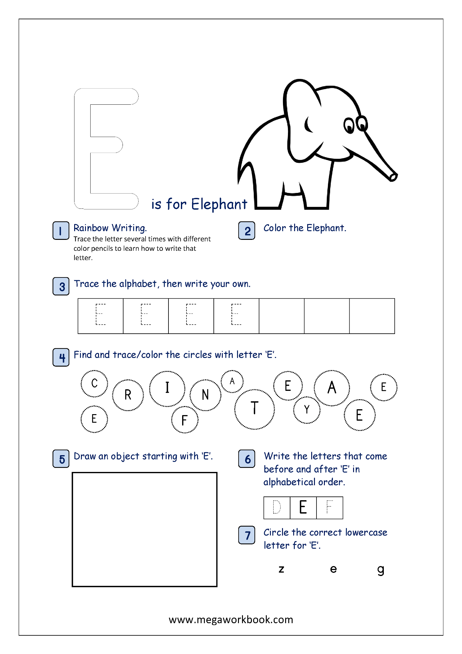 Alphabet Worksheets Kidslearningstation