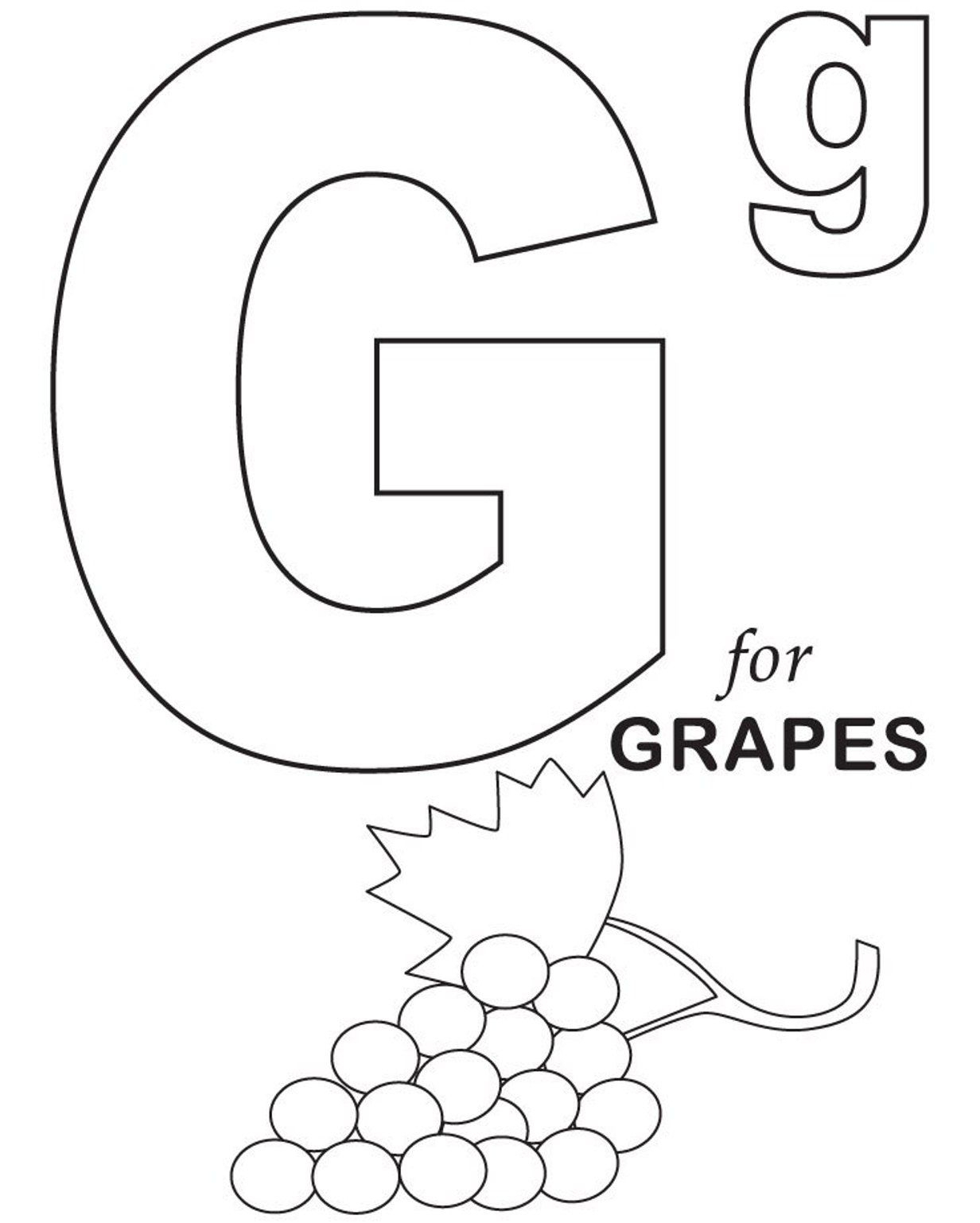 Letter G Worksheets Twisty Noodle