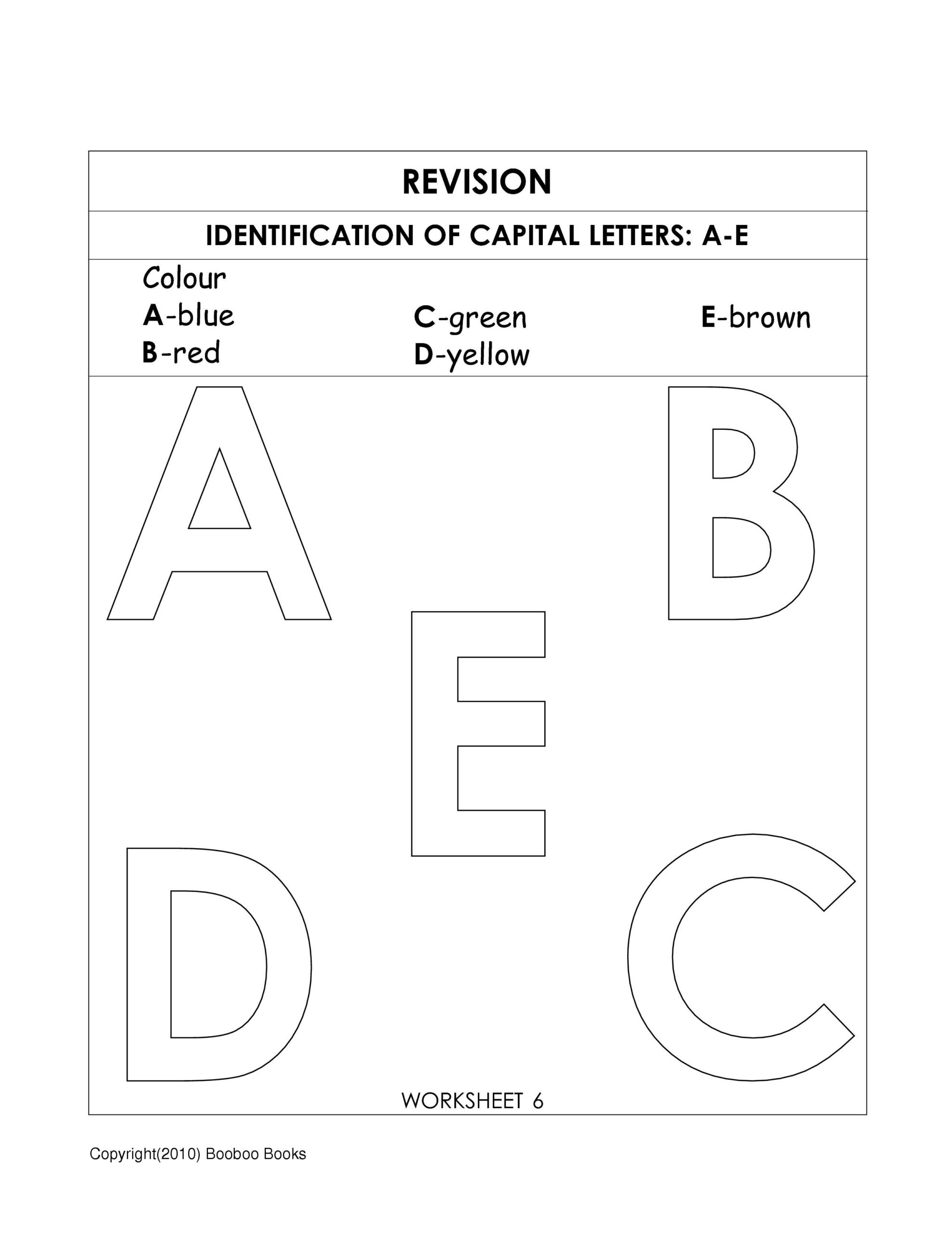 Alphabet Cutting Worksheets