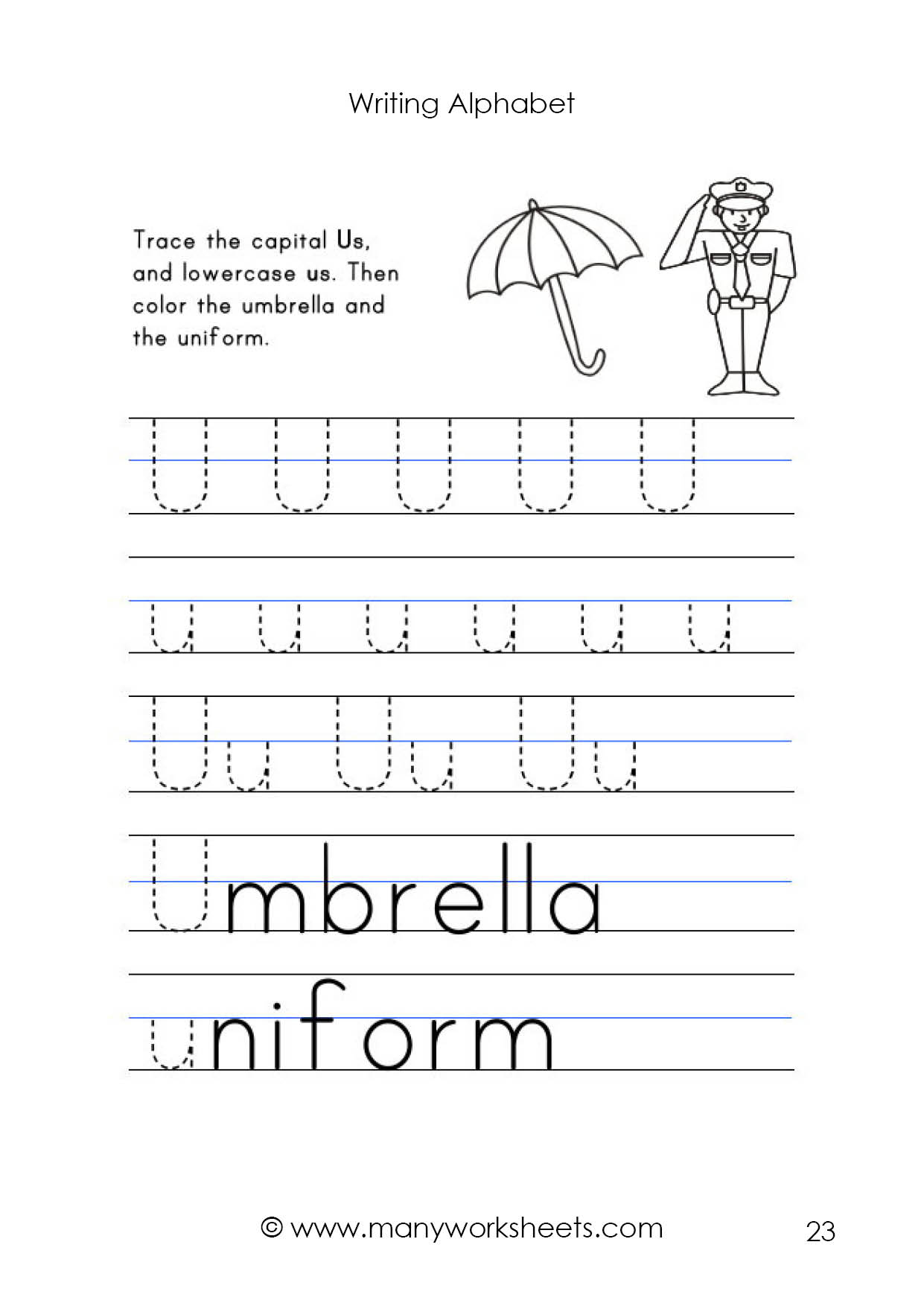 Alphabet Tracing Upper And Lowercase