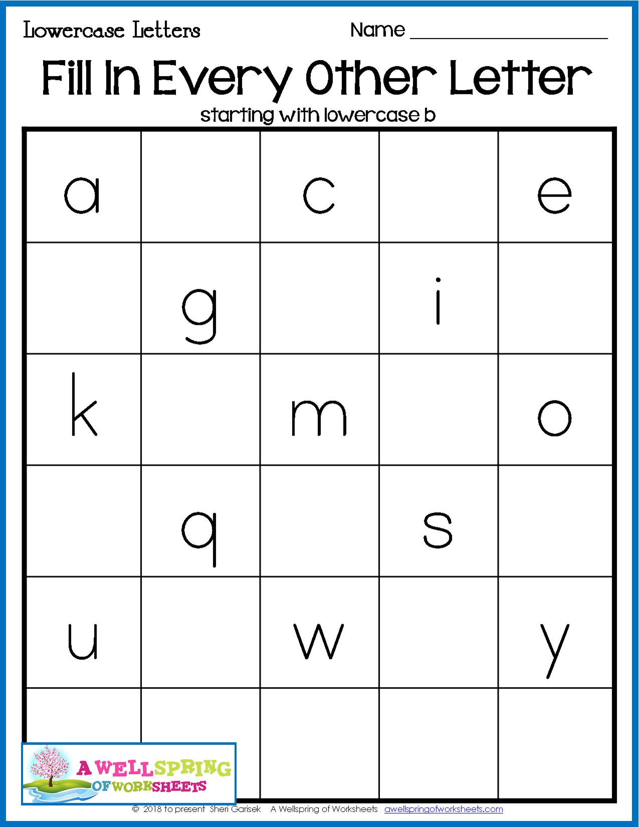 Alphabet Worksheets For 2nd Grade