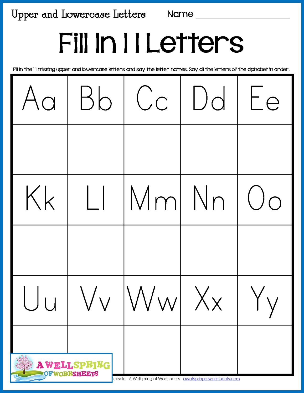 Alphabet Worksheets Missing Letters