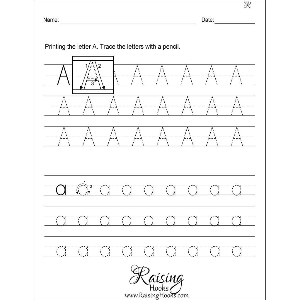 A Z Alphabet Tracing