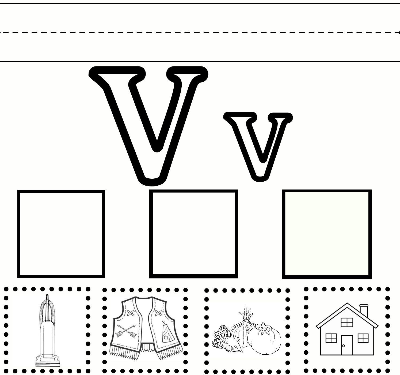 Letter V Worksheets For Prek