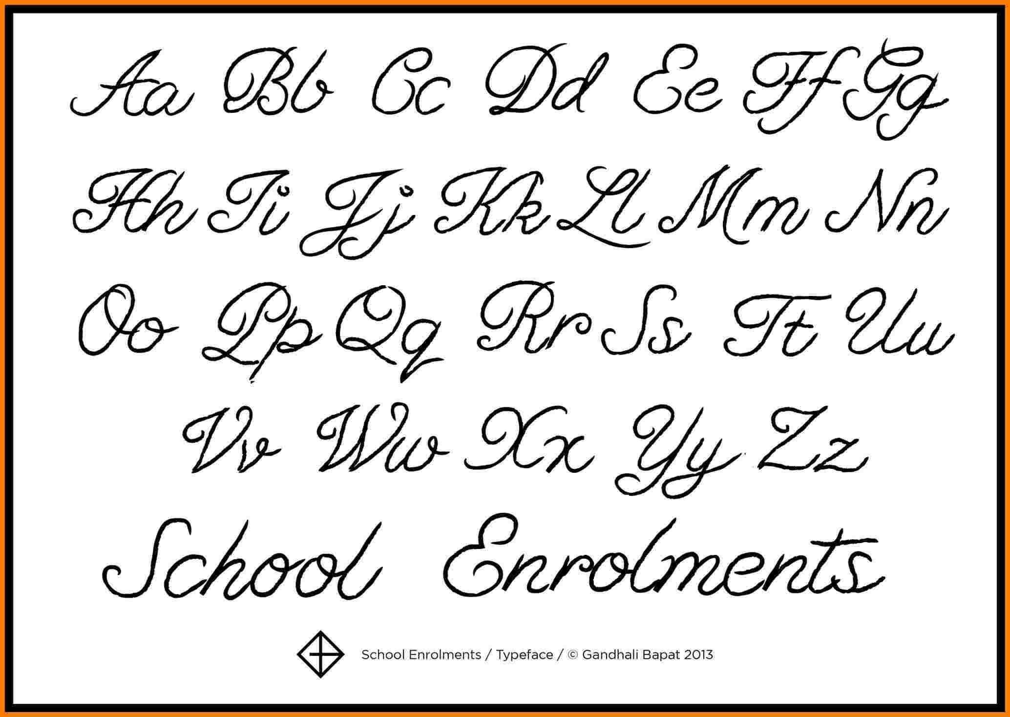 Cursive A Z Letters