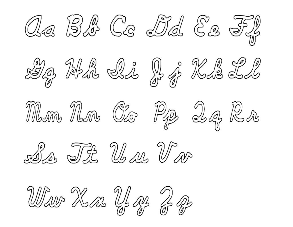 Cursive Alphabet Uppercase And Lowercase Chart