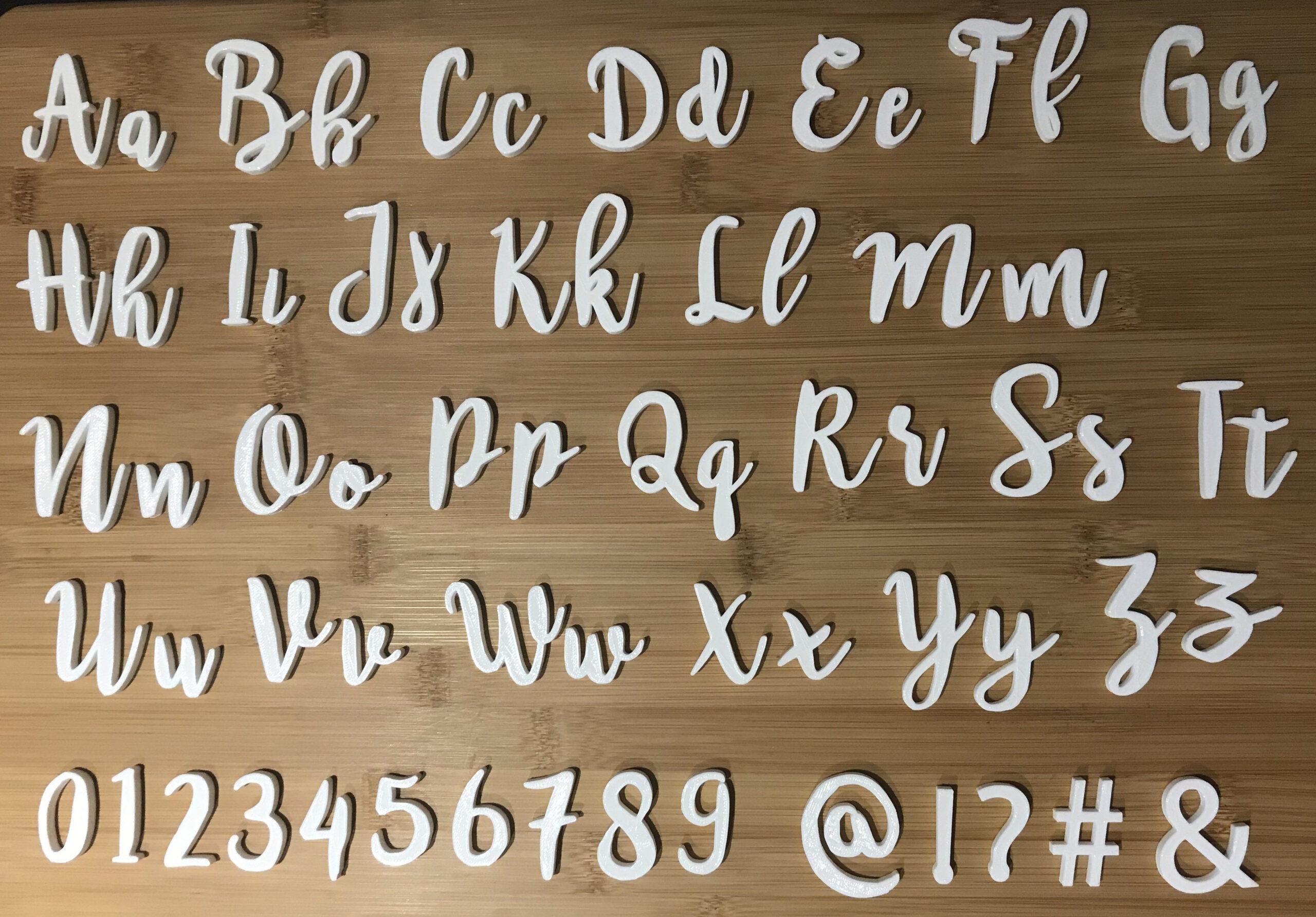 Cursive Alphabet Rubber Stamps