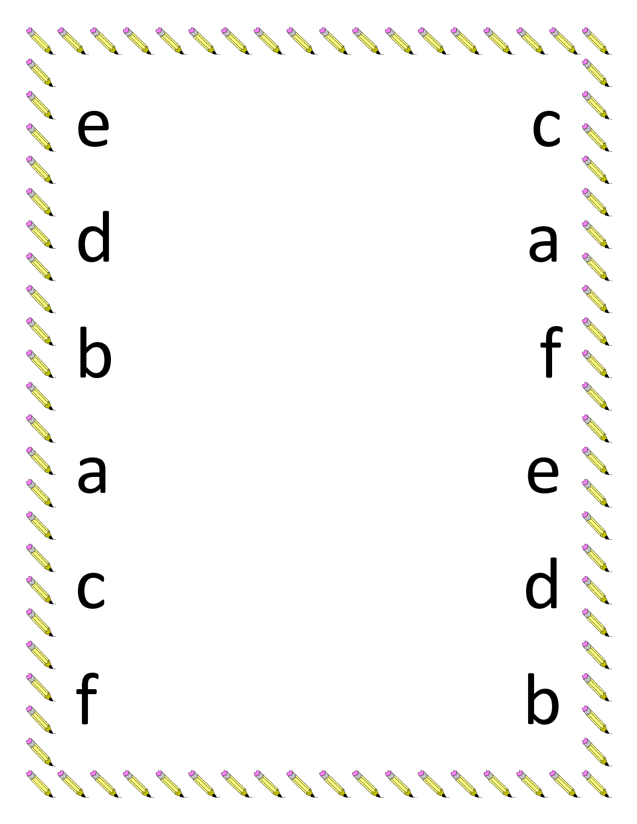 Alphabet Matching Worksheets For Preschoolers