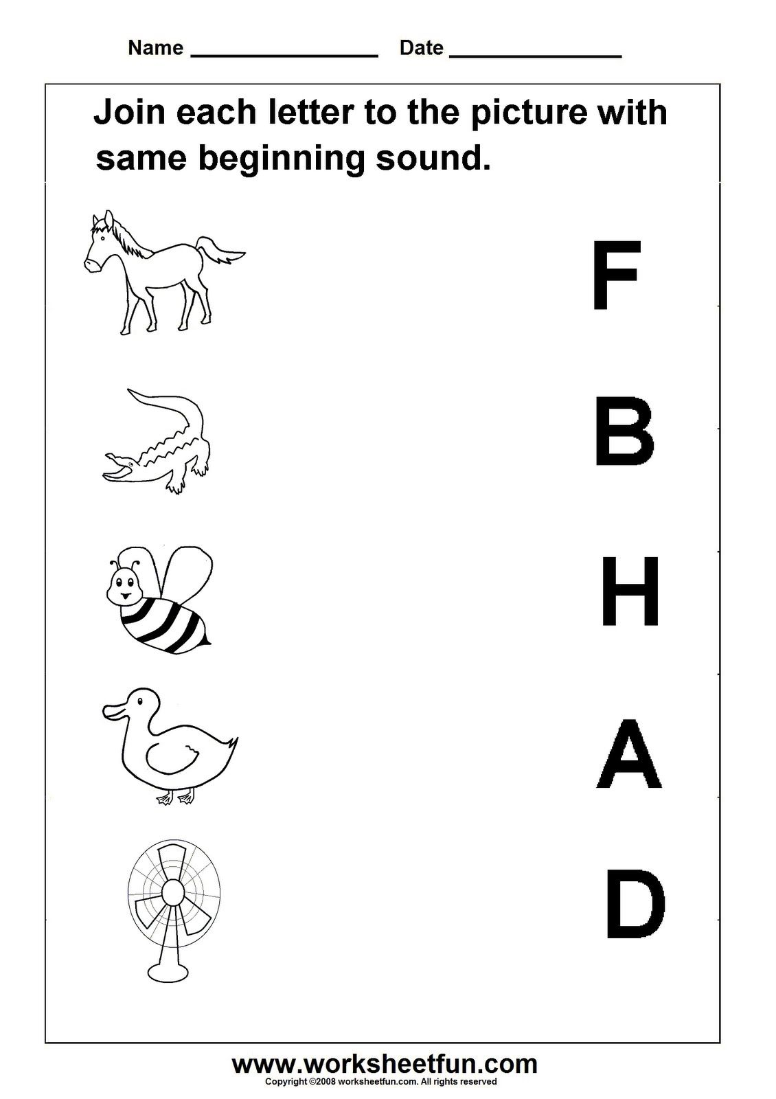 Alphabet Sounds Worksheets For Kindergarten